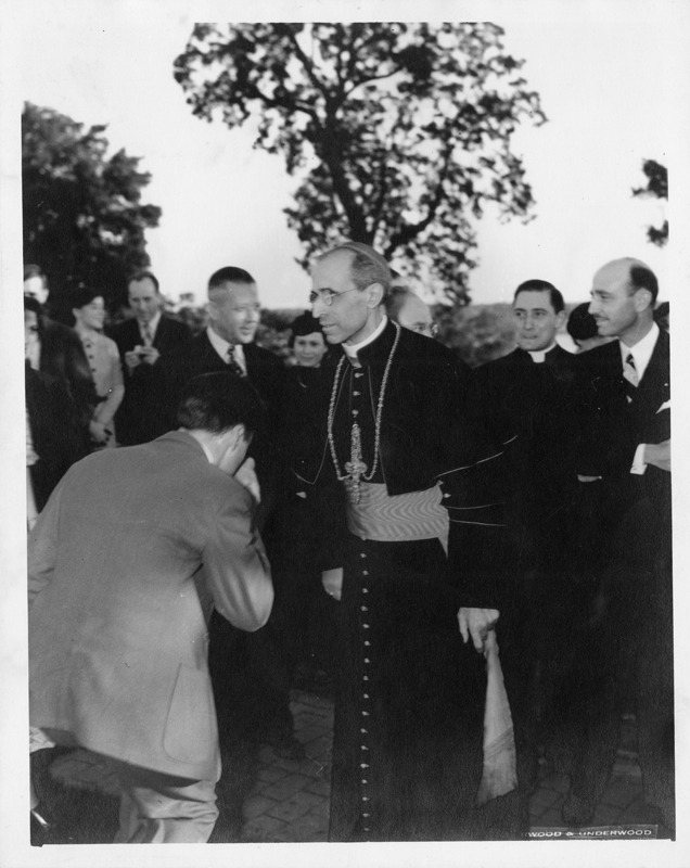 Unnamed Layman and Eugenio Pacelli on his visit to the United States