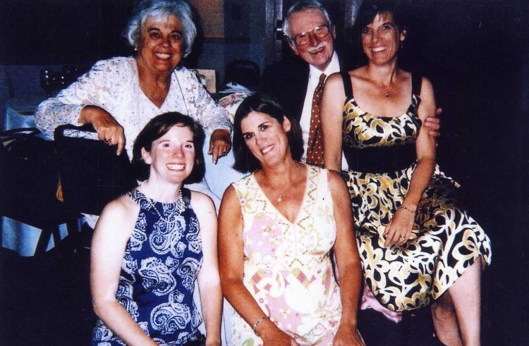 Berry and Mary Jo Reece with their three daughters, (left to right) Charliotte Moore, Georganne Palffy and Mara Buchholz, during their 50th Anniversary celebration in Annapolis, Maryland in 2008