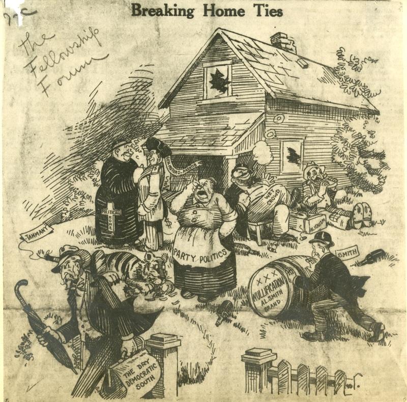 Cartoon--Breaking Home Ties, 1928