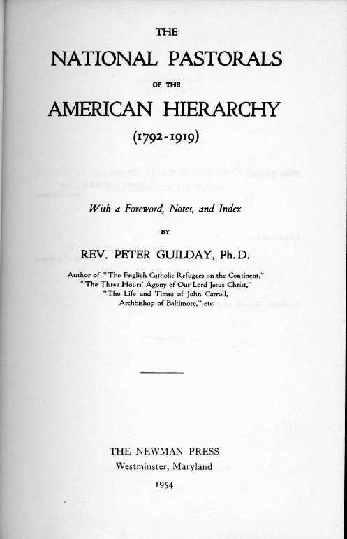 Pastoral Letter of the Third Plenary Council, 1884