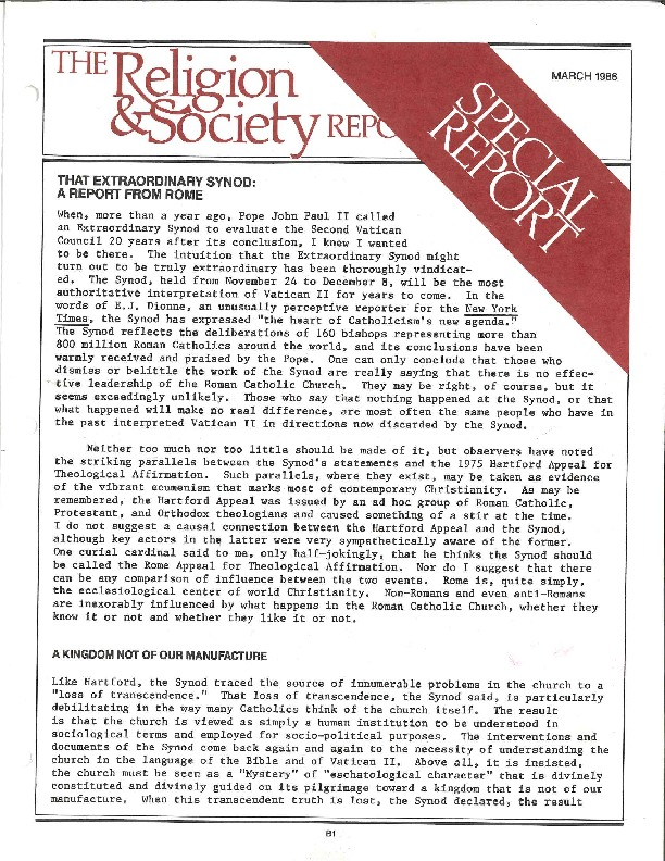 Religion and Society Synod Report March 1986 (11)