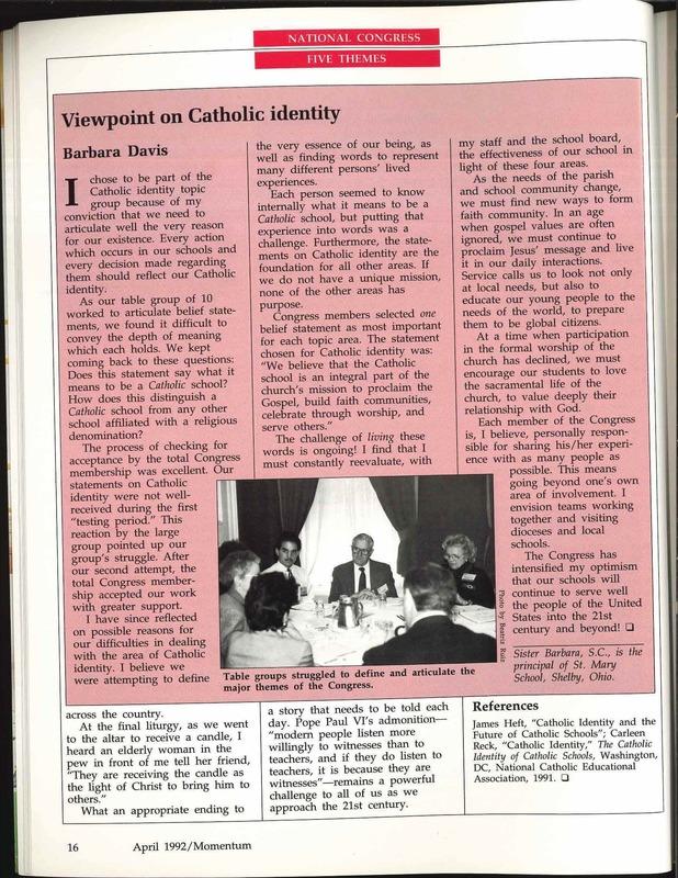 Viewpoint on Catholic Identity