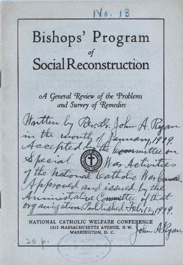 Bishops' Program 1919