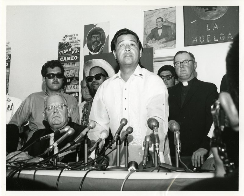 Cesar Chavez press conference
