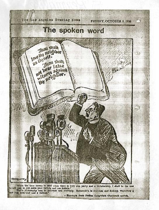 """The Spoken Word,"" Los Angeles Evening News, October 9, 1936"