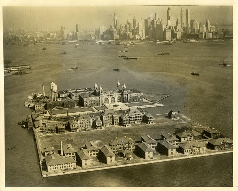 Ellis Island- aerial view