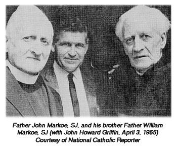Father John Markoe, SJ., and his brother Father William Markoe, SJ (with John Howard Griffin, April 3, 1965)