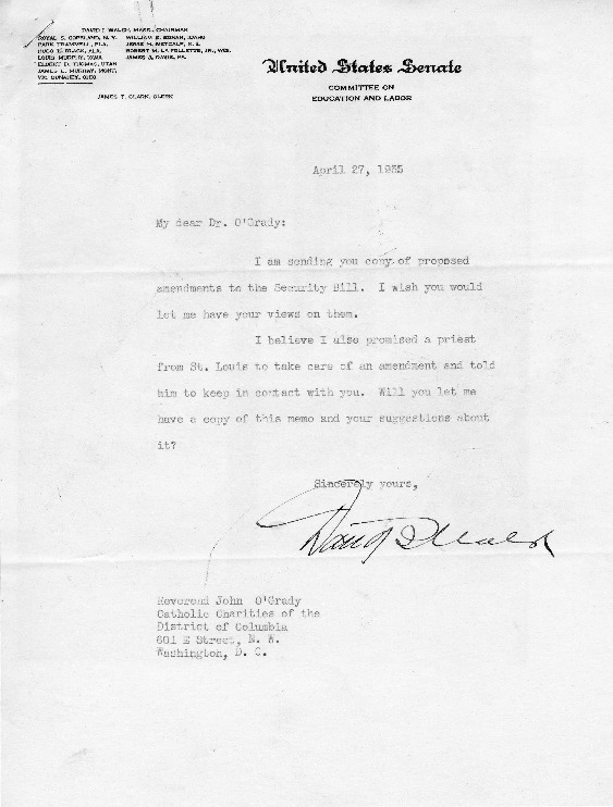 Letter to John O'Grady, April 27, 1935, with Reply, May 2, 1935