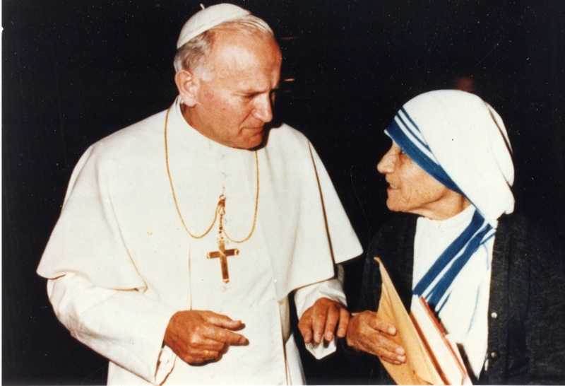 Mother Teresa and Pope John Paul II, 1980s