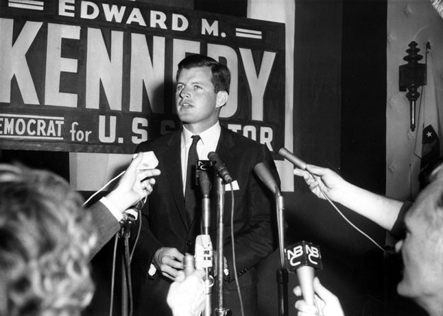 Edward M. Kennedy on the eve of his election to the U.S. Senate, 1962