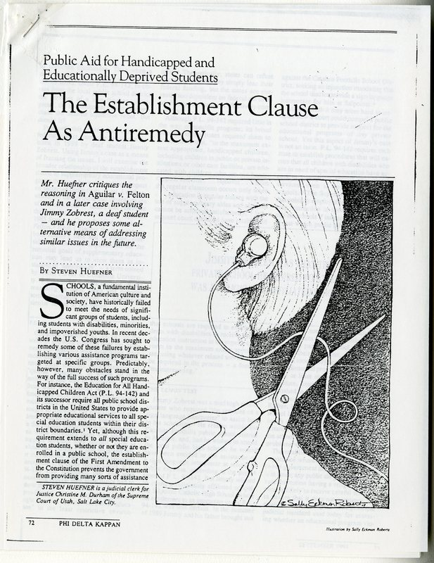The Establishment Clause As Antiremedy
