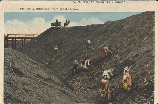Postcard of coal pickers in Pennsylvania, n.d.