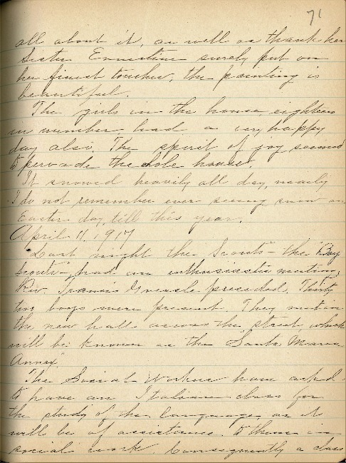 Justina Segale Journal Entry, April 11, and May 25, 1917  (Document 16)