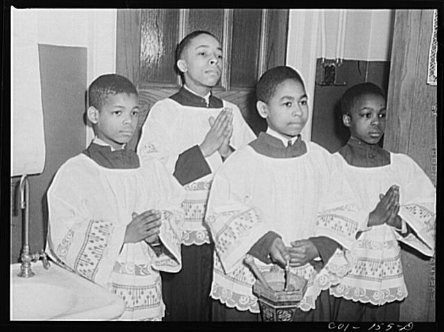 African American altar boys in Chicago