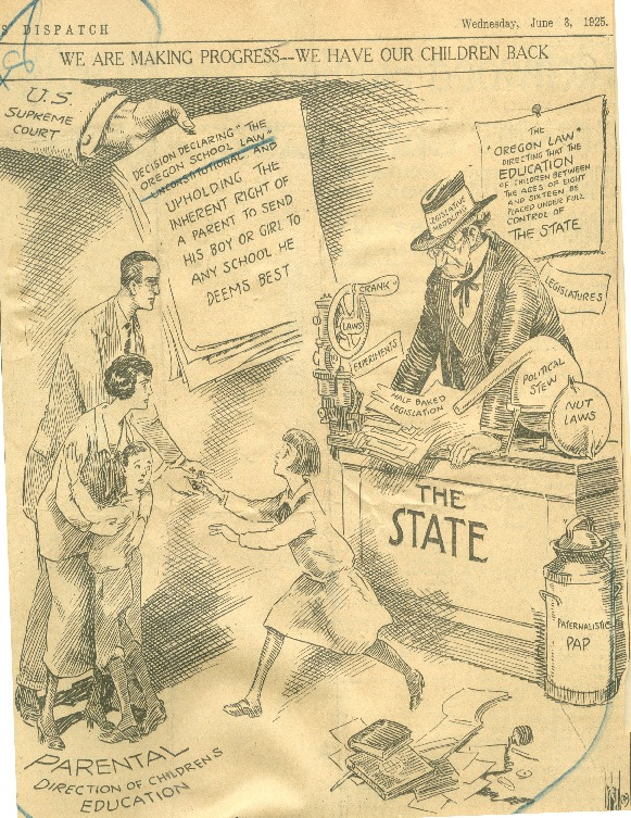"""We Are Making Progress-We Have Taken Our Children Back"" Editorial Cartoon, June 3, 1925"