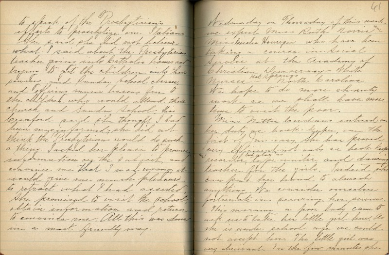 Justina Segale Journal Entry, February 19, 1917  (Document 15)