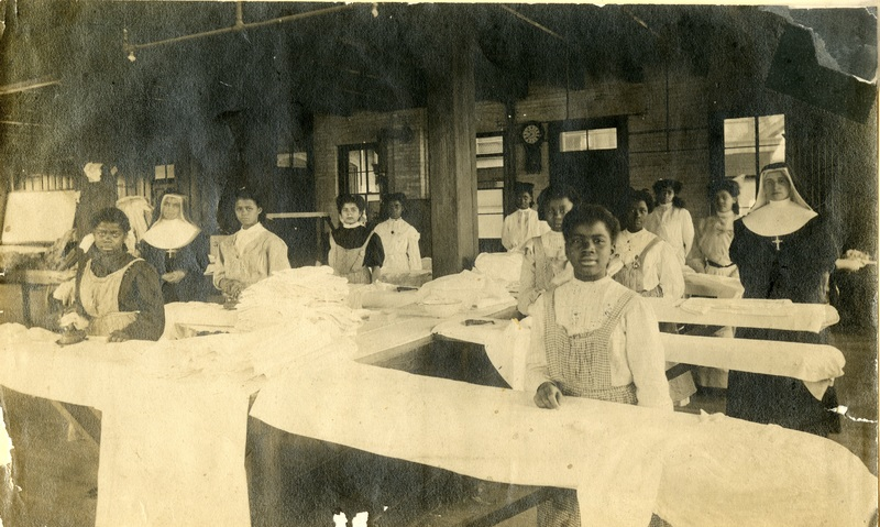 Mission Helpers, Ironing Room: St Peter Claver's Industrial School and Home