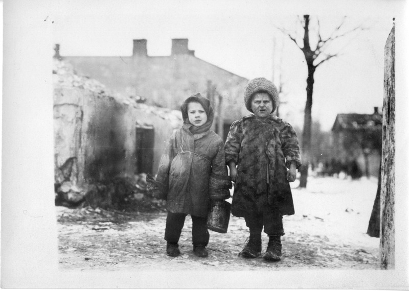 Polish Children with Red Cross Provisions