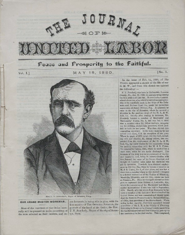 First issue of <em>The Journal of United Labor</em>, May 15, 1880