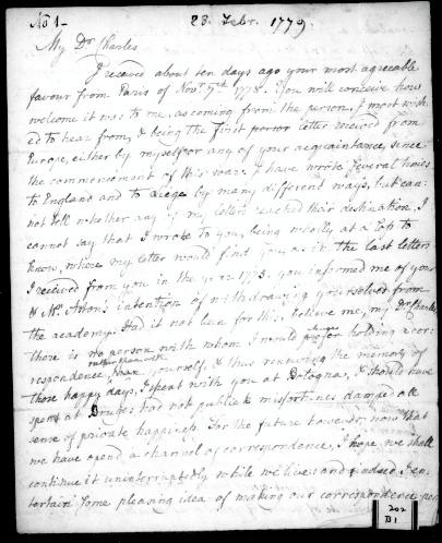 John Carroll Letter to Friend