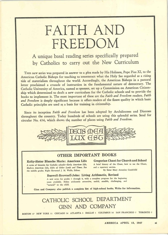 Faith and Freedom ad