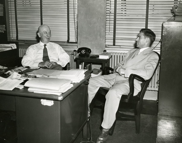 William Montavon with George Reed, ca. 1946-1950
