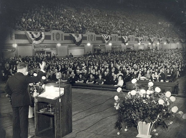 Father Coughlin Addressing the NUSJ-Townsend Convention in Cleveland, September 1939