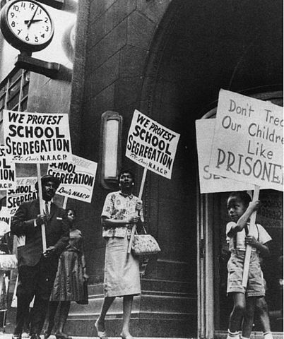 School segregation protest