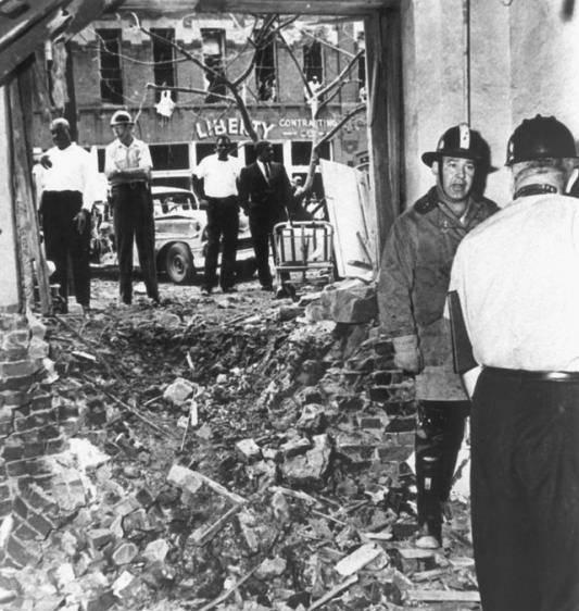 Bombing of the 16th Street Baptist Church. Birmingham, Alabama. September 1963.
