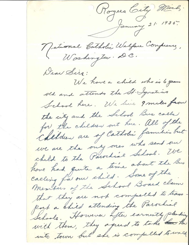 Letter from Mrs. H. C. Schmidt to NCWC