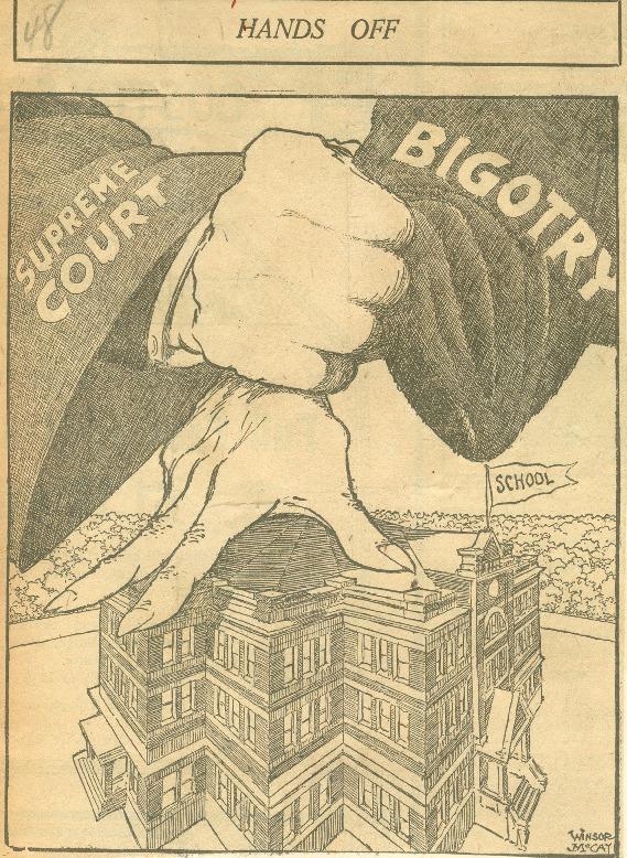 """Hands Off"" Editorial cartoon, June, 1925"