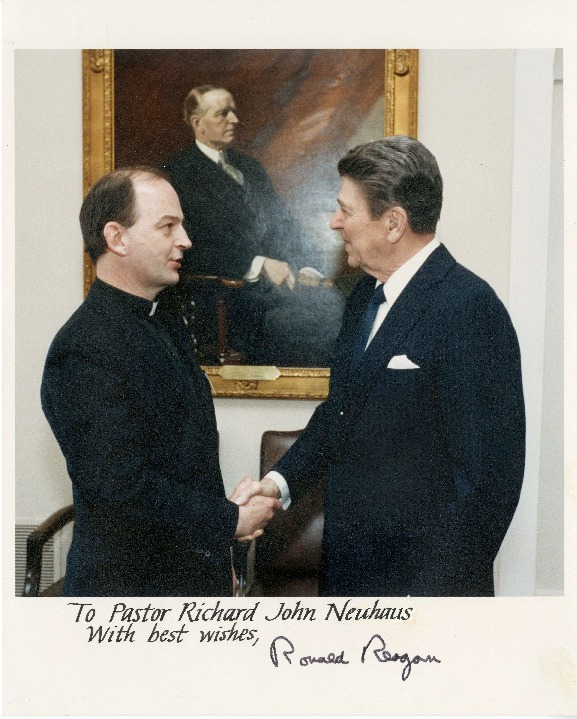 Richard Neuhaus and Ronald Reagan
