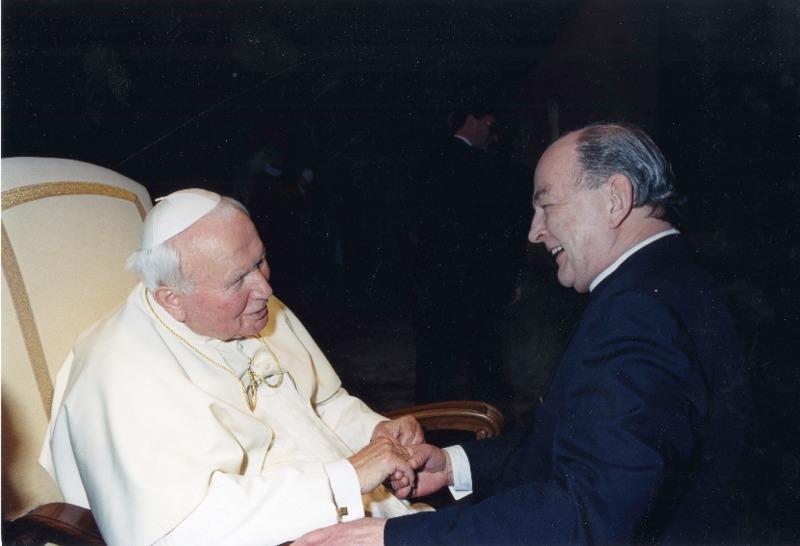 Richard Neuhaus and Pope John Paul II
