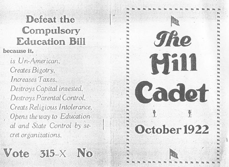 <em>The Hill Cadet</em>, October 1922