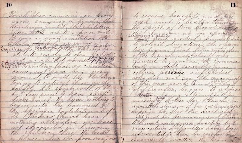 Justina Segale Journal Entry, September 23, 1897 (Document 8)