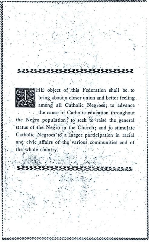 Mission Statement, 1927