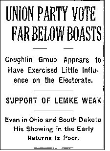 Election Headlines, November 4, 1936