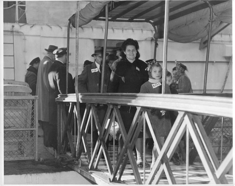 DP Family Happily Disembarking at Ellis Island