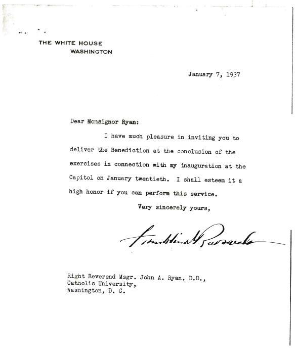 FDR to Ryan and Response from Ryan to FDR, January 7, 1937 Thumbnail