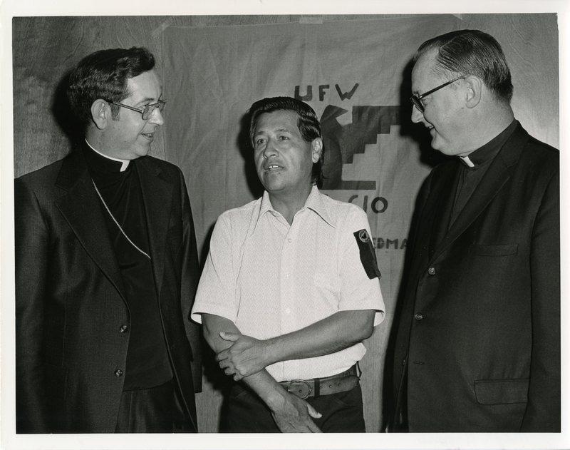 Chavez, Higgins, and Bishop James Rausch