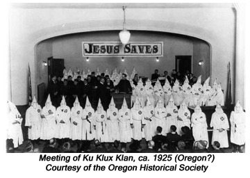 Meeting of Ku Klux Klan, ca. 1925 (Oregon?)