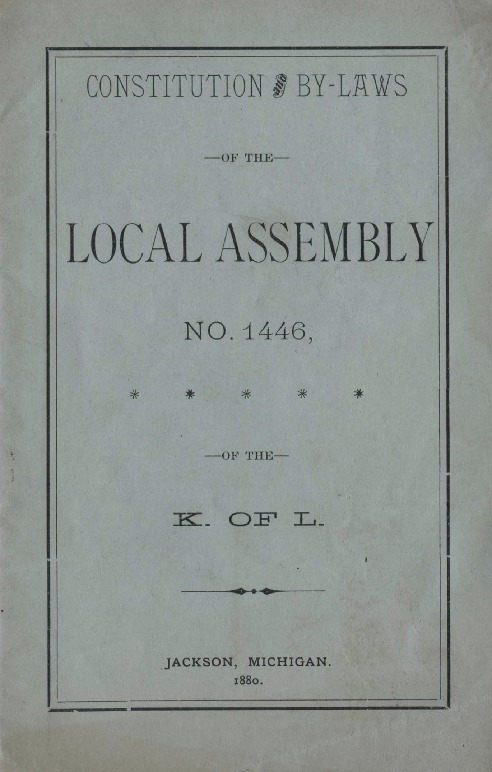 Constitution of KoL Local Assembly No. 1446, 1880