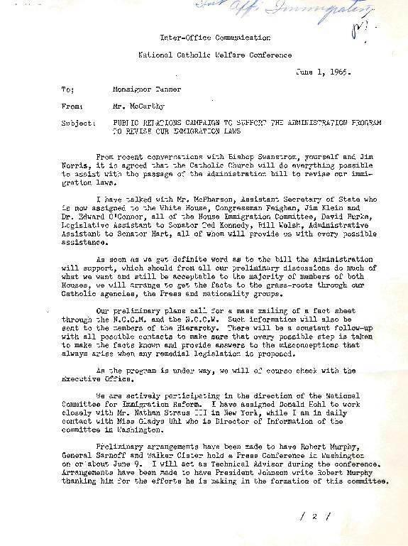 Letter from John McCarthy to Paul Tanner, June 1, 1965