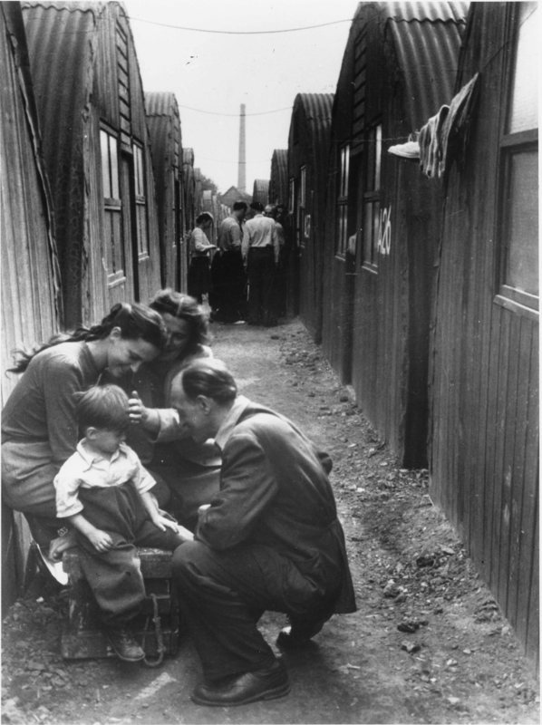 Refugee Family in Camp, Post-World War II