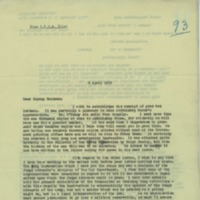 Letter from Rev. John J. Burke to Bishop Peter Muldoon, April 4, 1919
