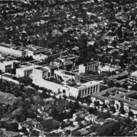 Aerial view of the California Institute of Technology in 1944