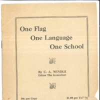 One Flag One Language One School 1903 cover.jpg