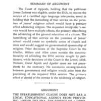 Writ of Certiorari - Zobrest vlina Foothills School District Summary Page 8.jpg