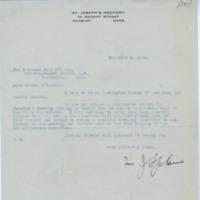 Letter from Rev. Mgr. M.J. Splaine to Rev. John O'Grady, December 6, 1918