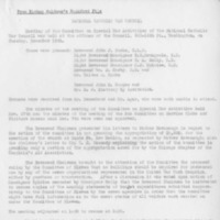 Minutes of the Meeting of the Committee on Special War Activities
